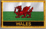 Wales Embroidered Flag Patch, style 09.